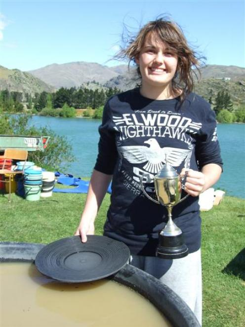 Amelia Gatward-Ferguson (14), of Queenstown, became the youngest winner of the New Zealand gold...