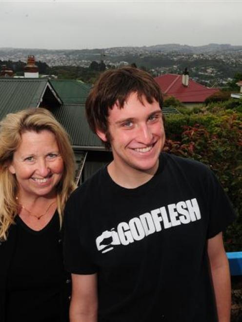American permanent residents in Dunedin, Margi MacMurdo-Reading and her son, Walker MacMurdo (19)...