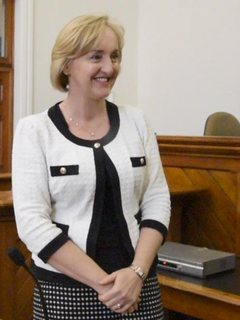 Amy Adams visits the Dunedin District Court today. Photo by Craig Baxter.