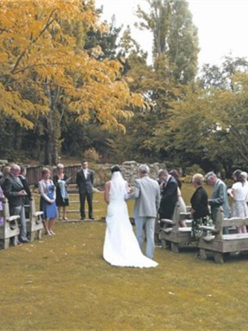 Amy Brazier and James Richmond celebrated their marriage at the Cardrona Hotel, in March. Photo...