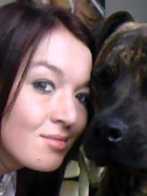 Amy Elizabeth Farrall with her dog, Chop.