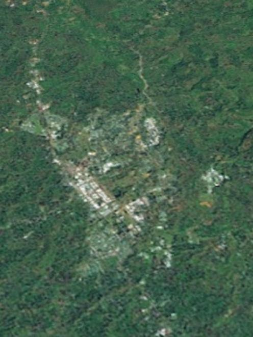An aerial view of Mt Hagen, where a woman was burned alive after being accused of sorcery. Photo...