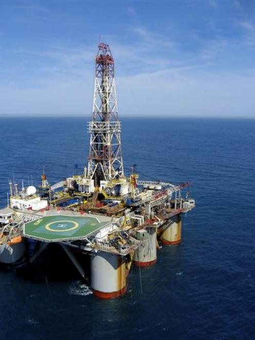 An Anadarko deep-water drilling rig off the coast of Brazil.