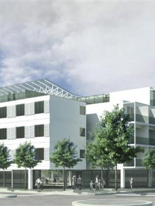 An architect's drawing of the proposed 202-room hotel. Image supplied.