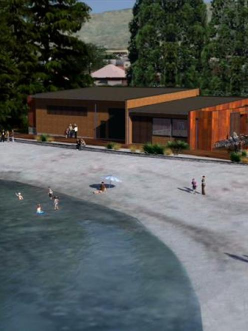 An architect's impression of the proposed Wanaka Watersports Facility. Image supplied.