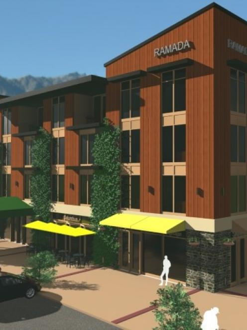 An artist's impression of the new Ramada Hotel and suites to be built at Queenstown's Remarkables...