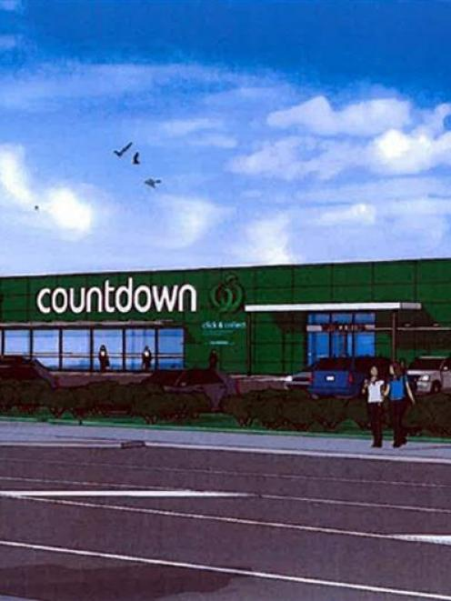 An artist's impression of the proposed Countdown supermarket in Mosgiel. IMAGE: SUPPLIED
