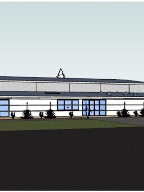 An artist's image of the planned Wanaka Primary School hall.