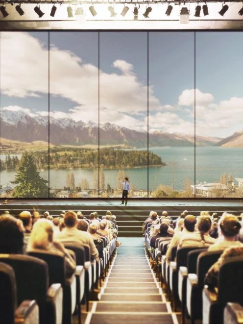 An artist's impression of the  750-seat meeting space, part of the architects' concept design for...