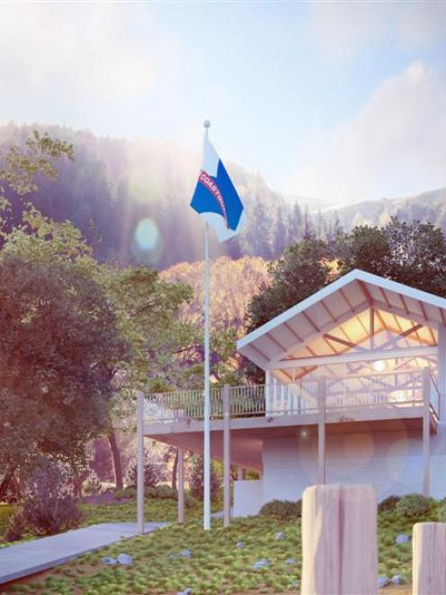 An artist's impression of the proposed Coastguard Queenstown operations base. Image supplied.