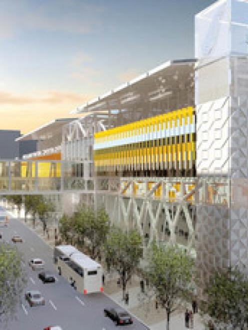 An artist's impression of the proposed convention centre for Auckland.
