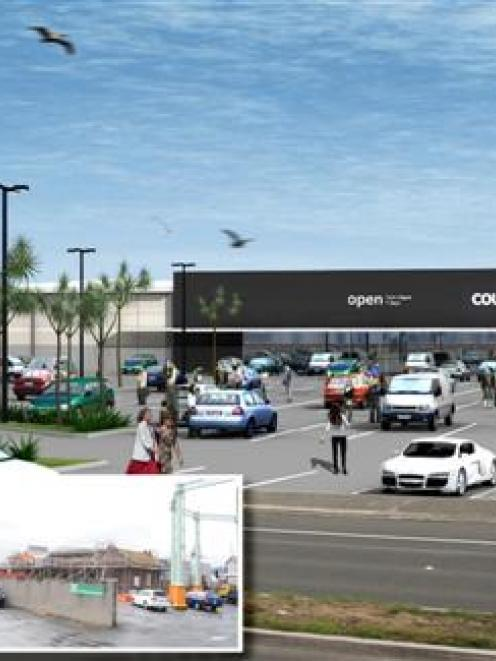 An artist's impression of the proposed Countdown on Andersons Bay Rd, Dunedin, with (inset, left)...