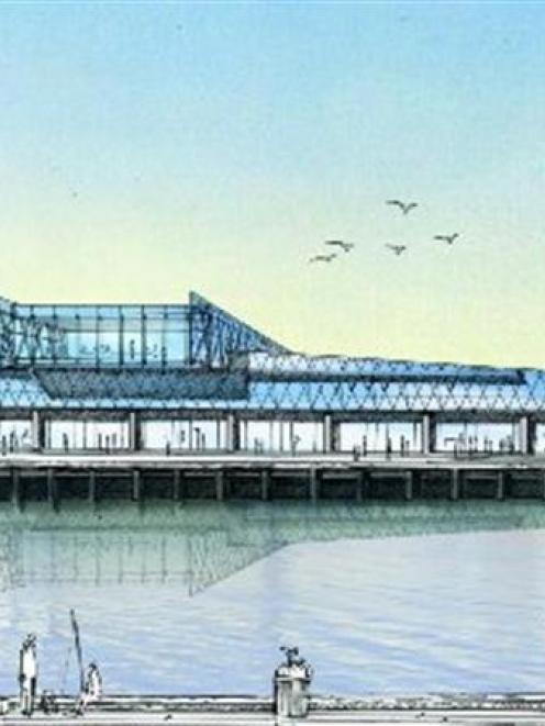 An artist's impression of the proposed Otago Regional Council headquarters on the harbour front....