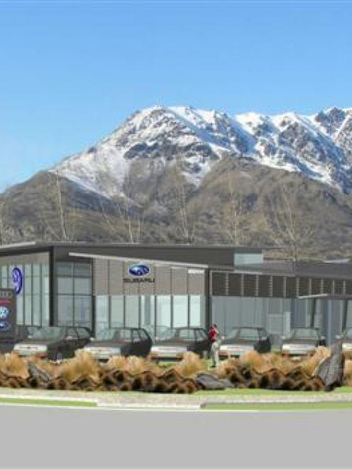 An artist's impression of the Queenstown Motor Group car dealership building in Remarkables Park...