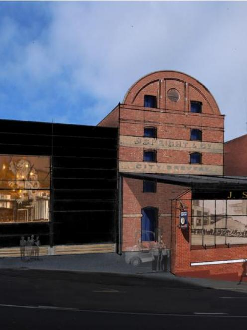 An artist's impression shows what the redeveloped Speight's Brewery in Dunedin will look like...