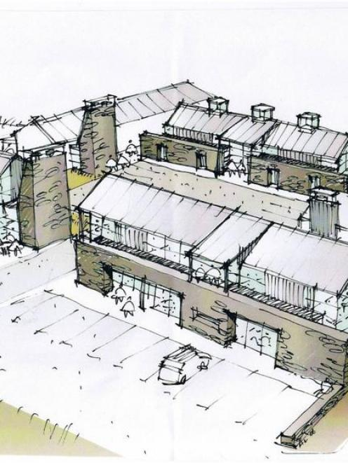 An early  concept plan of a proposed $3 million commercial development for Cardrona. The designs...