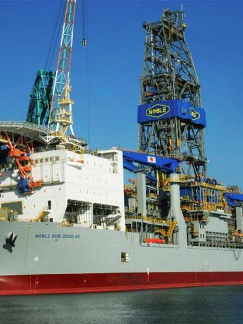 Anadarko plans to use the drilling ship Noble Bob Douglas in its search for oil in the Canterbury...