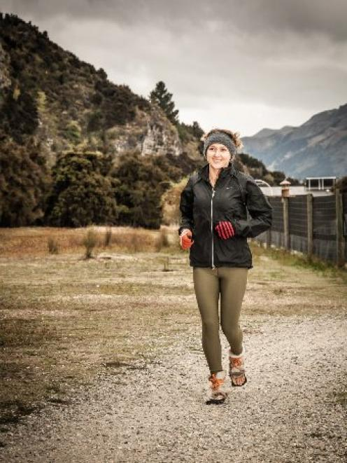 Ange Connell trains for the Routeburn Classic. Photo by Simon Williams.
