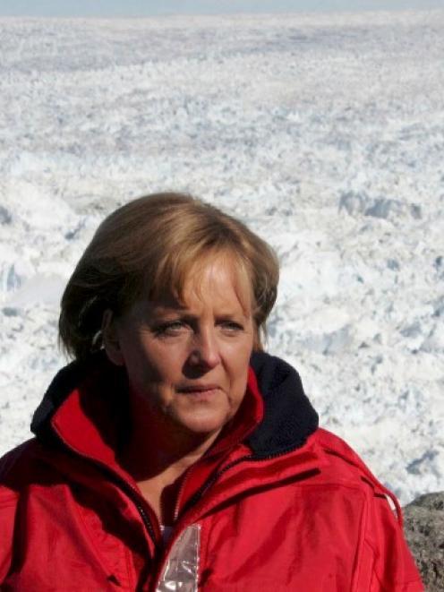 Angela Merkel has broken her pelvis in a skiing accident. Photo Reuters