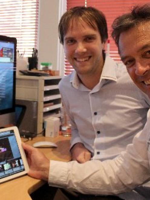 Animated Research Ltd chief executive Ian Taylor (right) and app project leader John Rendall with...