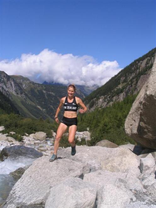 Anna Frost prepares in Switzerland last month for ther world championships.