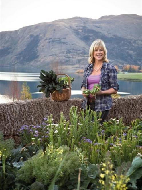 Annabel Langbein in her Wanaka garden, which features in her TV series. Photo by Alix Carere.
