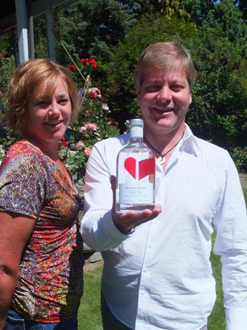 Annie Robertson and Joerg Henkenhaf with Broken Heart Gin.  Launched publicly in September, the...
