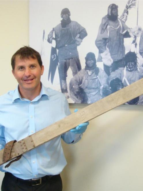 Antarctic Heritage Trust executive director Nigel Watson is pictured with one of  Dr Edward...