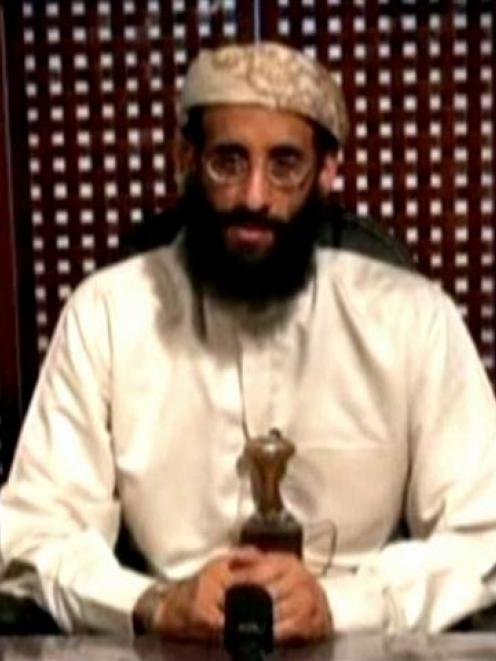 Anwar al-Awlaki, a US-born cleric linked to al Qaeda's Yemen-based wing, gives a religious...