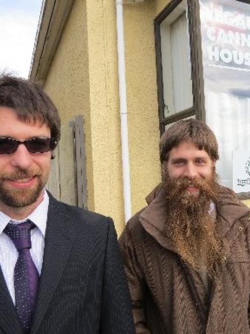 Aotearoa Legalise Cannabis South Island manager Julian Crawford (left) and Legalise Cannabis...