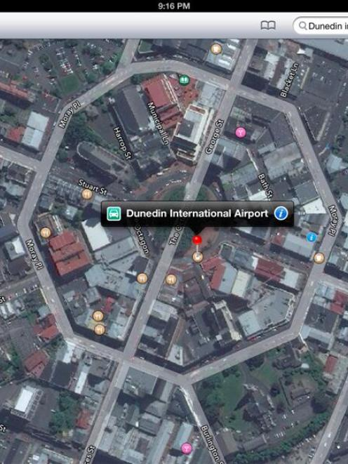 Apple Maps puts Dunedin airport in Octagon Otago Daily Times