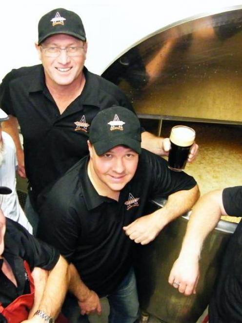 Arrow Brewing Company Ltd (from left) co-director Greg McMeeken, head brewer John Timpany and co...
