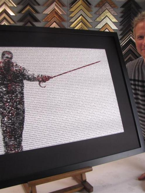 Arrowtown-based artist Paul Sewter with one of his pieces, <i>The Dispassion of Michael,</i>...