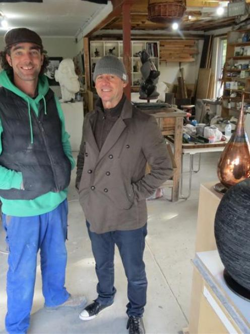 Arrowtown sculptors Conor McNicholas (left) and Shane Woolridge propose the conversion of the...