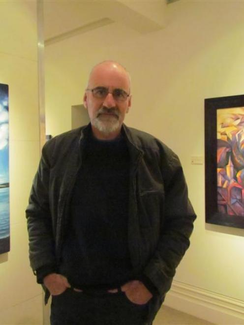 Artist Kit Macgregor at an exhibition of his work at the Forrester Art Gallery in Oamaru. Photo...