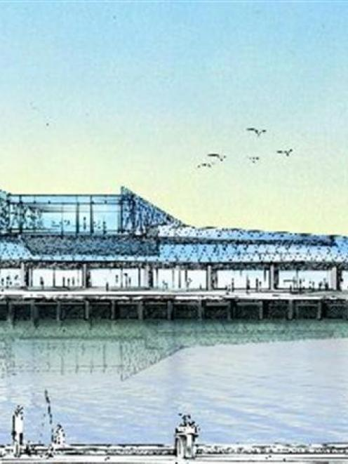 Artists' impression of the planned Otago Regional Council waterfront office building.