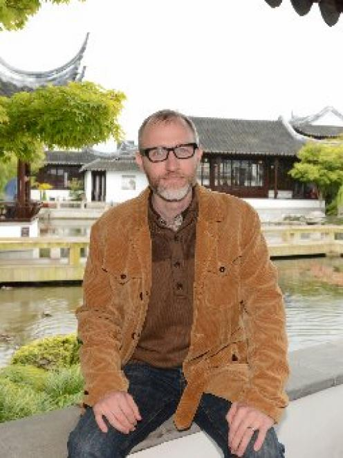 Assoc Prof Jonathan Stalling visits Dunedin's Chinese Garden at the weekend. PHOTO: LINDA ROBERTSON