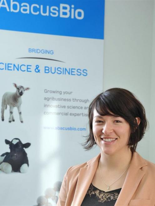 Associate consultant Grace Johnstone, at AbacusBio in 