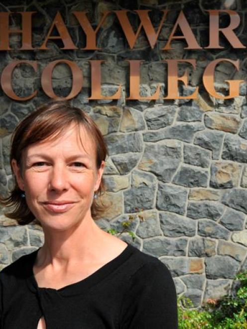 Associate Prof Janine Hayward, recently elected chairwoman of the Hayward College council,  at...