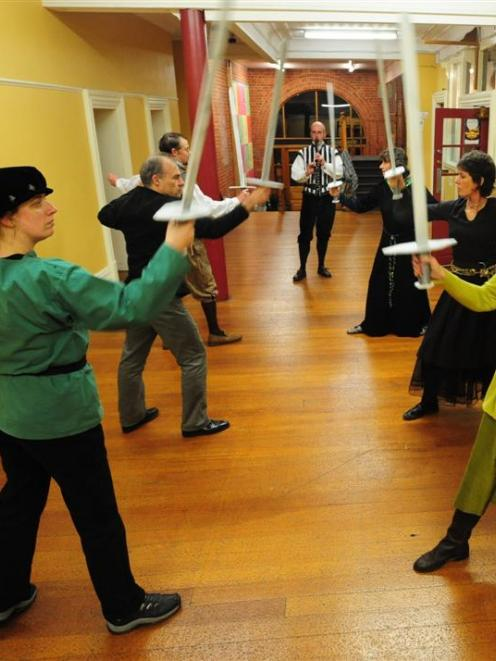 At a medieval dance rehearsal at the Carnegie Centre on Sunday are (clockwise, from front left)...
