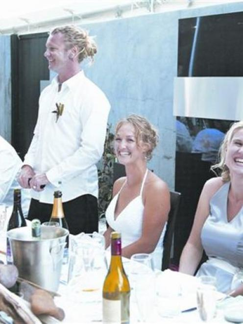 At the reception of Catherine Lyness and Nigel Anderson at The Venue, Wanaka in March this year....