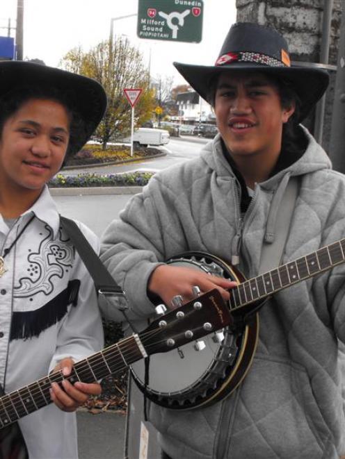 Auckland siblings Kaitlyn Watene (12) and Jordan Watene (13), who perform as Just Kidding. Photo...