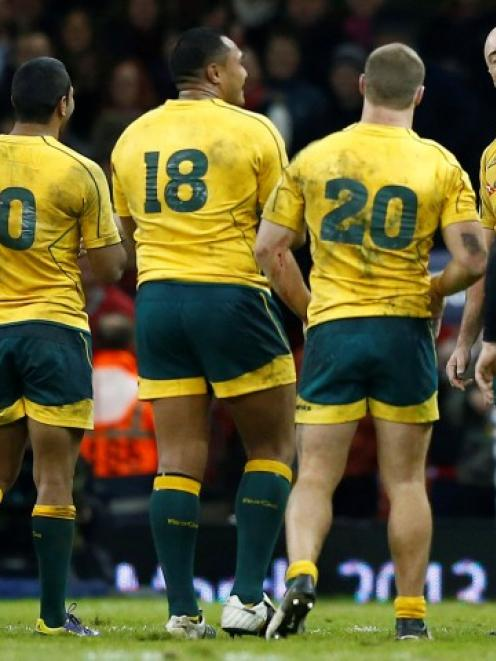 Australia will feature in the same pool as England and Wales in the next World Cup. Photo Reuters