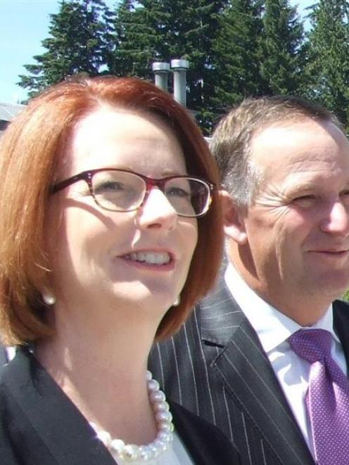 Australian Prime Minister Julia Gillard and John Key.