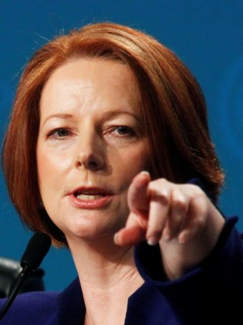 Australian Prime Minister Julia Gillard. Photo Reuters