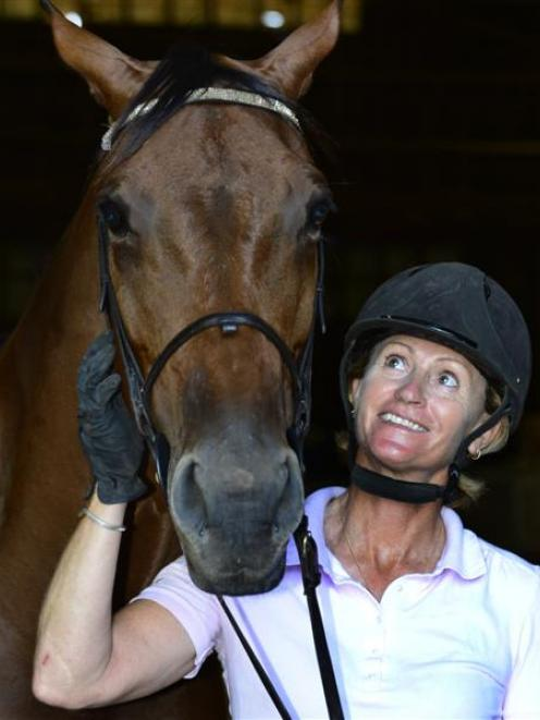 Australian show jumper Alison Rowlands and ''prom queen'' Brickley Brook Bella began preparations...