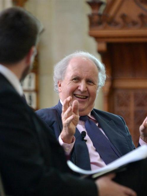 Author Alexander McCall Smith takes part in conversation with writer Liam McIlvanney for the...
