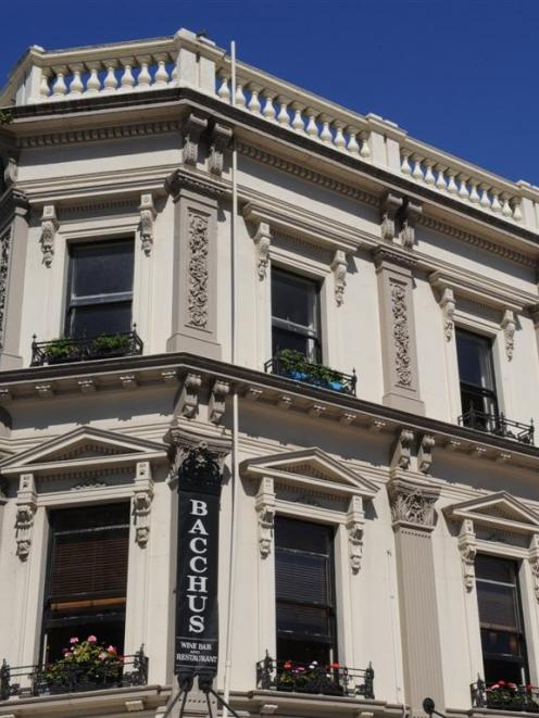 Bacchus wine bar and Regent Theatre, in the Octagon. A building owner has suggested a new council...