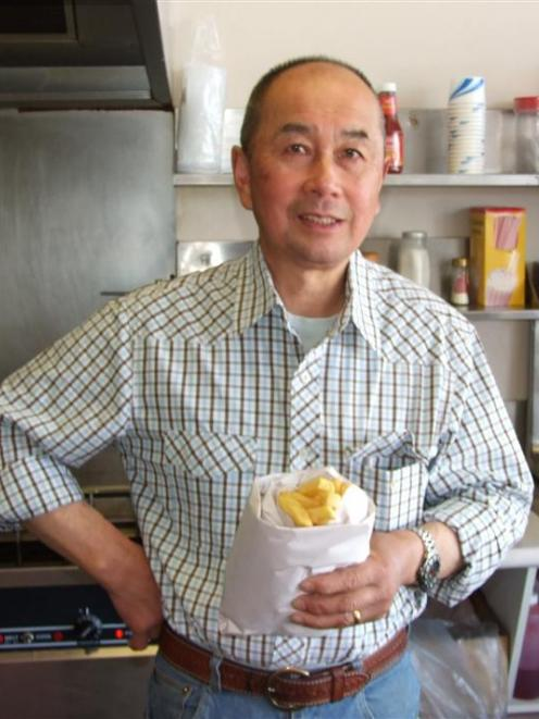 Balclutha man Nelson Wong in his former fish and chip shop. Photo by Helena de Reus.