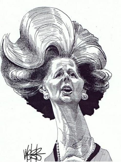 Baroness Thatcher.